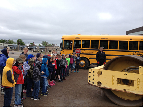 Students attend a field trip to the landfill